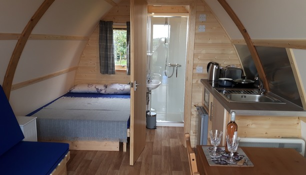 Inside our Glamping Cabin in North Devon